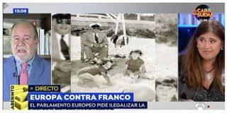 """El presidente de la Fundación Franco machaca a Lucía Etxebarria: """"Franco no era fascista, ¡está usted muy despistada!"""""""