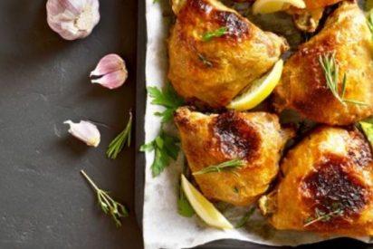 Contramuslos de pollo al ajillo