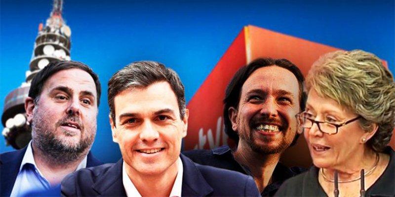 El 'okupa' Sánchez y el 'chavista' Iglesias son letales para España