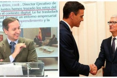 """En el programa de Carlos Cuesta se parten de risa de la reunión de Sánchez con Apple: """"En el próximo iPhone, en lugar de Siri te hablará Sánchez"""""""