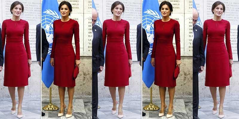 La prensa británica se rinde ante este sensual vestido rojo que marca cada curva de la Reina Letizia