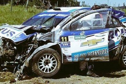 Así fue el impresionante accidente que sufrió David Nalbandian en el rally de Entre Ríos