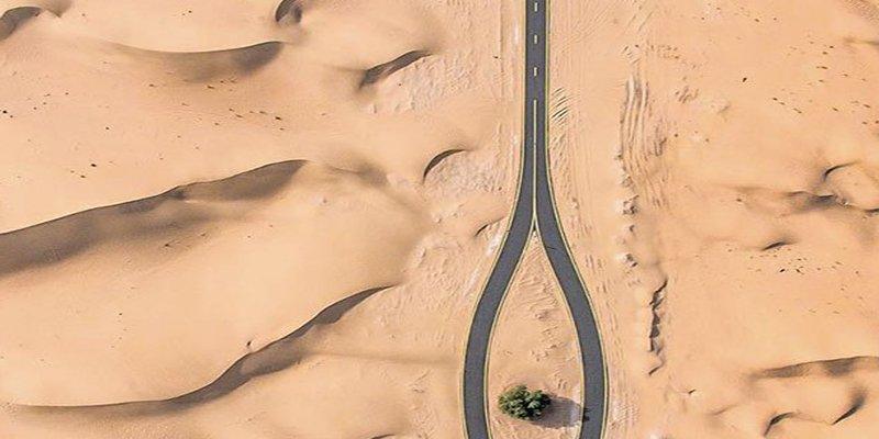 Mira las fotografías aéreas de cómo el desierto se come a la ciudad de Dubai