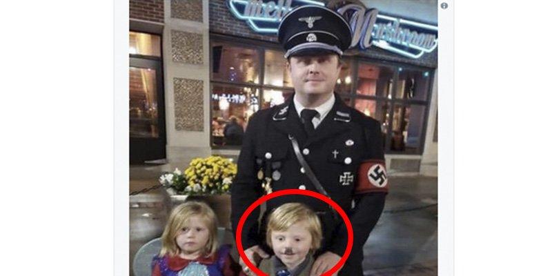 Este norteamericano se disculpa por disfrazar a su hijo de Hitler para Halloween
