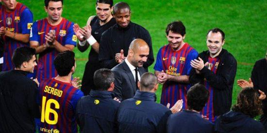 """Guardiola saca pecho y afirma que la química de su Barcelona se da """"una vez en la vida"""""""