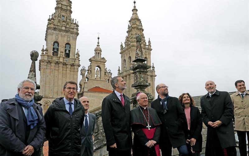 El Rey visita la catedral de Santiago de Compostela
