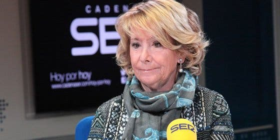"""En la Cadena SER se permiten el lujazo de mandar a Esperanza Aguirre """"a la mierda"""" gratuitamente"""