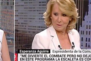 """Esperanza Aguirre destroza en un plis a la podemizada Telemadrid: """"No veo esta tele, la escaleta es anti-PP"""""""