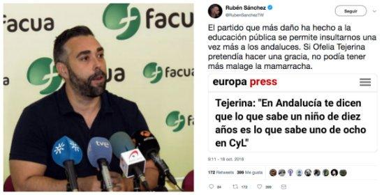 Rubén Sánchez (Facua) va de defensor de la educación andaluza y comete un error que provoca el descojone de Twitter
