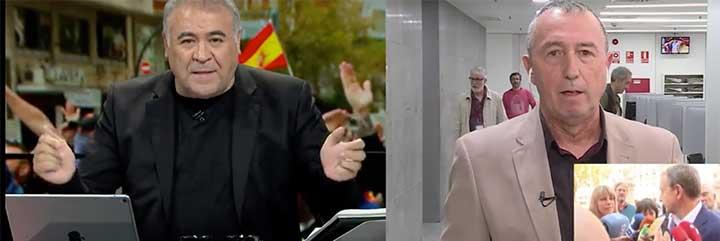 Más periodismo: Ferreras y Baldoví ocultan deliberadamente la agresión a Seguí y dicen que todo lo que pasó en Valencia fue culpa de los 'fachas'