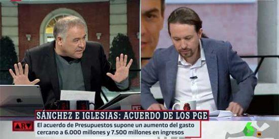 Ferreras entra en campaña y, extasiado, le regala una hora de publicidad a Iglesias para que venda su acuerdo con Sánchez