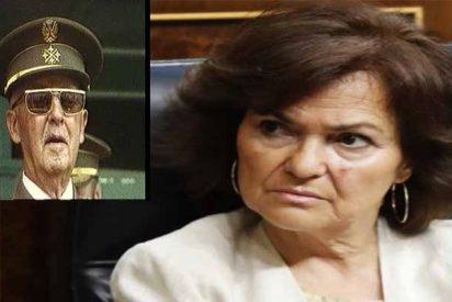 La vice Carmen Calvo reconoce que el Gobierno socialista no puede impedir que Franco sea enterrado en la Almudena