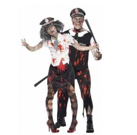 Pareja de policía zombies