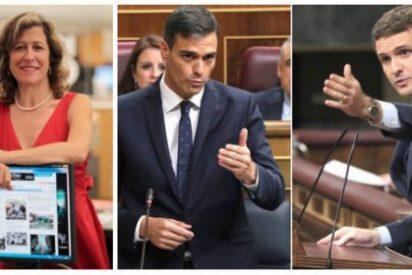 Pablo Casado da en la diana con Sánchez: El País vomita odio contra el líder del PP al que ya compara con Trump