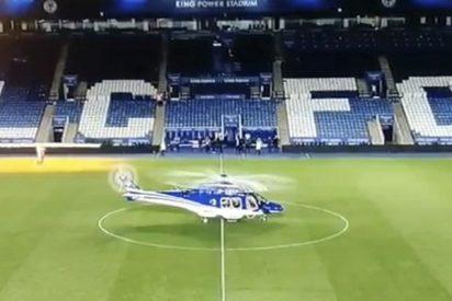 Cámaras de televisión captan el sonido de la explosión del helicóptero del dueño del Leicester City