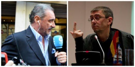"""El histriónico Juan Carlos Monedero vuelve a atacar a Carlos Herrera al grito de """"bocachancla y odiador"""""""