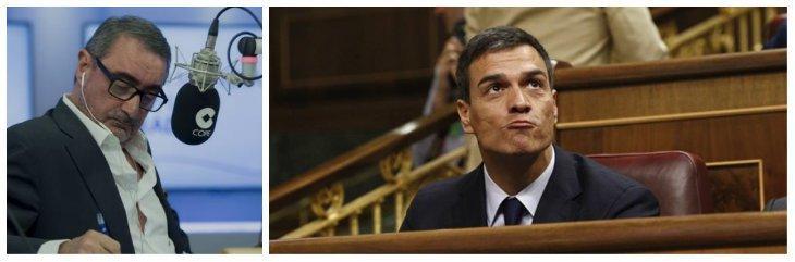 """Carlos Herrera destapa la traición de Pedro Sánchez: """"Actuó como el abogado defensor del golpista Junqueras"""""""