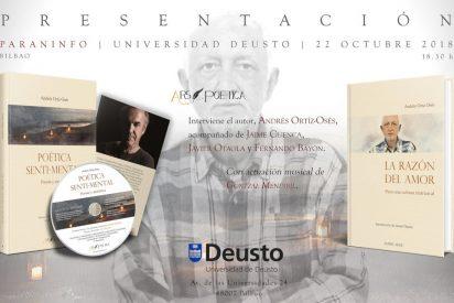 Amigos y alumnos homenajean al filósofo Andrés Ortiz-Osés en la Universidad de Deusto