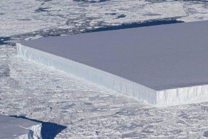 La NASA halla un extraño iceberg perfectamente rectangular