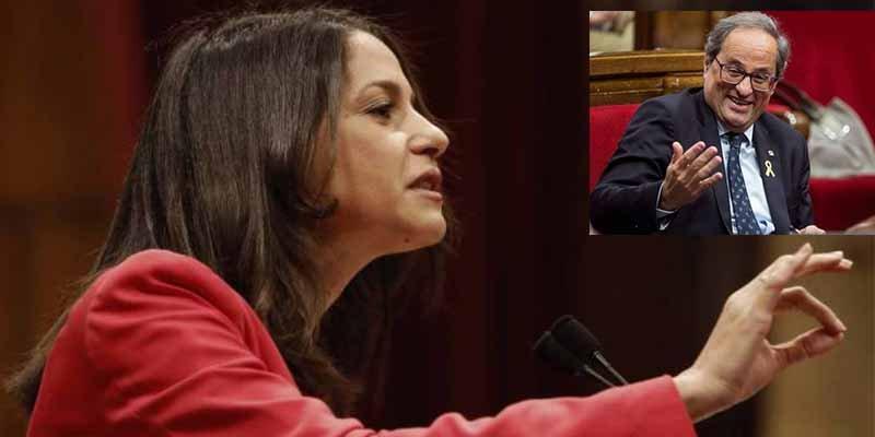 """Inés Arrimadas: """"Señor Torra, no confunda la debilidad de Pedro Sánchez con una debilidad de la democracia"""""""