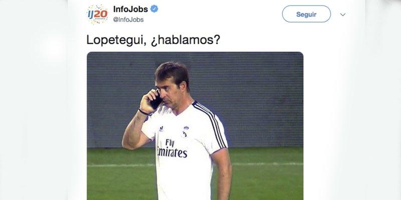 InfoJobs se descojona de Lopetegui tras la derrota ante el Levante