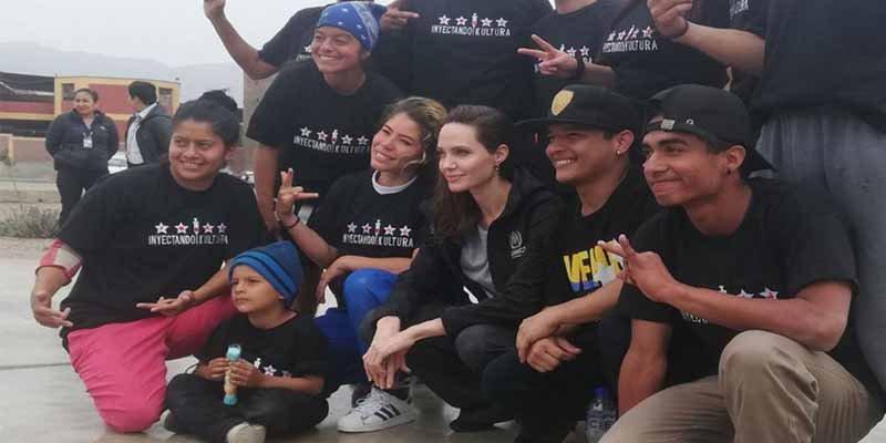 Angelina Jolie llega a Perú para reunirse con refugiados venezolanos