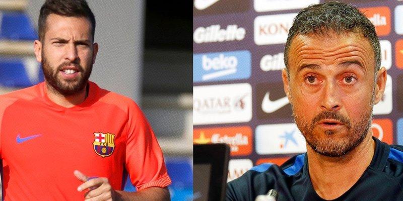 ¿Sabes por qué se llevan tan mal Jordi Alba y Luis Enrique?