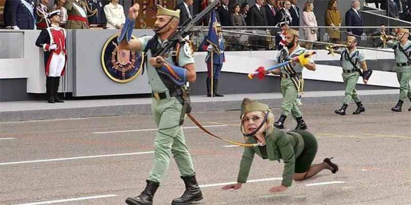 Los cagones de 'El Jueves' sustituyen a la cabra de la Legión por Rosa Díez a cuatro patas y las feministas aplauden
