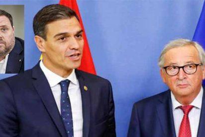 El 'okupa' Sánchez esta pillado entre el golpista Junqueras y europeista Juncker