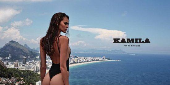 Kamila Hansen, la modelo brasileña que enciende las redes