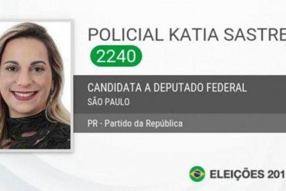 'Premian' a la policía que abatió a un ladrón frente a una escuela en Brasil con un cargo como diputada