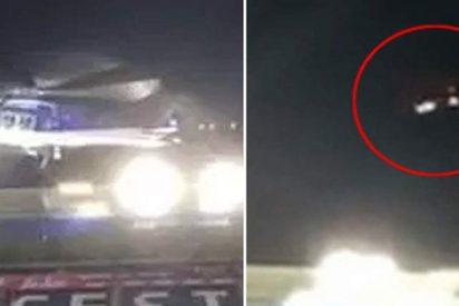Así fue el momento exacto en el helicóptero perdió el control antes de estrellarse en Leicester