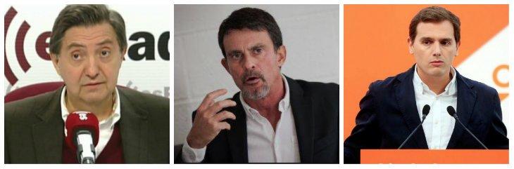 """Losantos destroza a Valls por atacar a Vox y compararlo con la ETA: """"Engañaste a Rivera porque es un pardillo"""""""