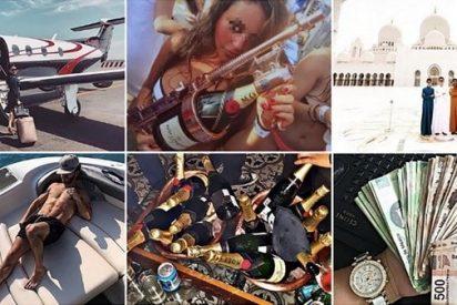 México: Los lujos de los 'niños ricos' que presumen de champaña, rifles, jets, yates y animales exóticos