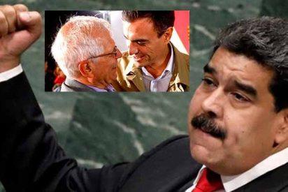 Pedro Sánchez, con Borrell de palmero, intenta hacer al tirano Maduro un tipo respetable en la UE