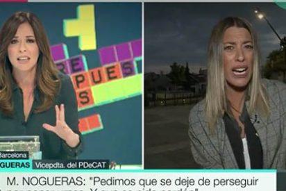 """Esto es lo que le pasa a Mamen Mendizábal por intentar razonar con una airada 'indepe' a la que solo le faltó decir """"prensa española, manipuladora"""""""
