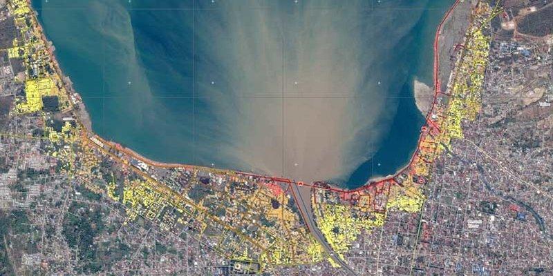 Así son los mapas que muestran la destrucción sufrida en Indonesia tras el terremoto y el tsunami