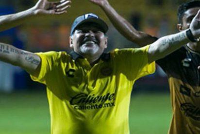 Así fue el baile viral de Diego Maradona tras la victoria de su equipo