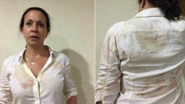 Una turba chavista ataca a la líder opositora María Corina Machado