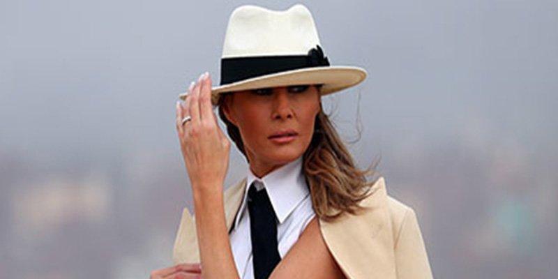 Las redes se ríen del estilo de Melania Trump 'a lo Michael Jackson'