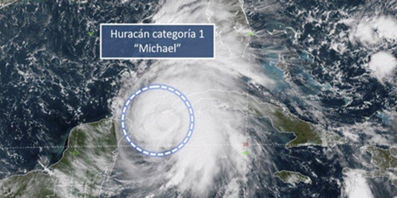 Michael se convierte en huracán y amenaza a Cuba y México