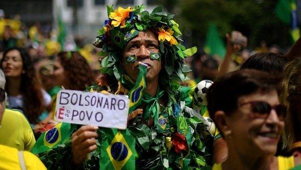 Movilización masiva de los brasileños a favor de Jair Bolsonaro