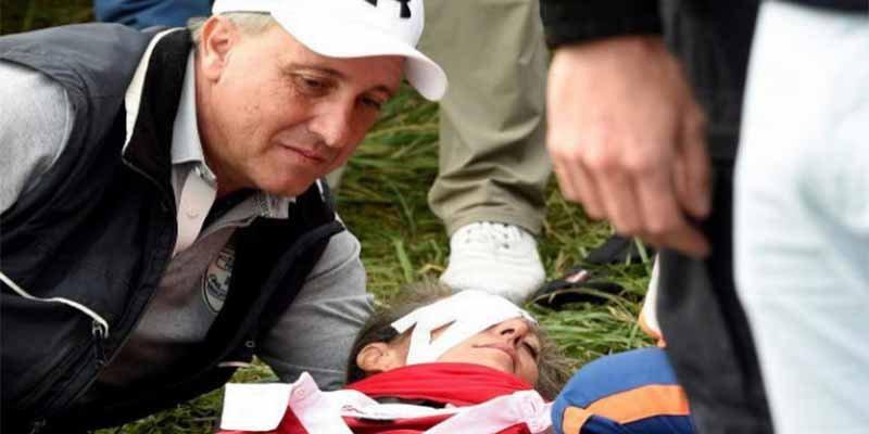 Horror en la Ryder Cup: una pelota de golf golpea a una espectadora y le revienta un ojo
