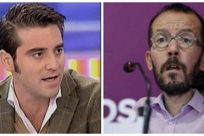 """Javier Negre sacude a tuits a Pablo Echenique: """"Lo que no es una broma es que pagaste en negro a tu asistente"""""""