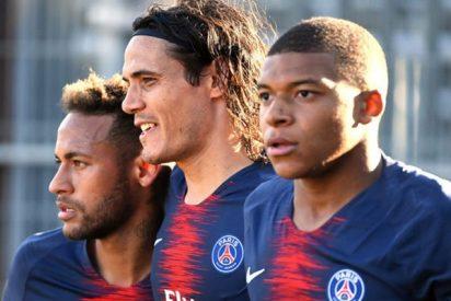 Neymar y Mbappé 'marginan' a Cavani en el PSG