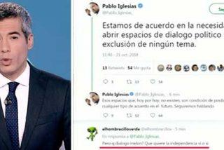 TVE sigue ofreciendo cobertura al omnipresente Pablo Iglesias pero esta vez comete un error brutal que no gustará nada al podemita