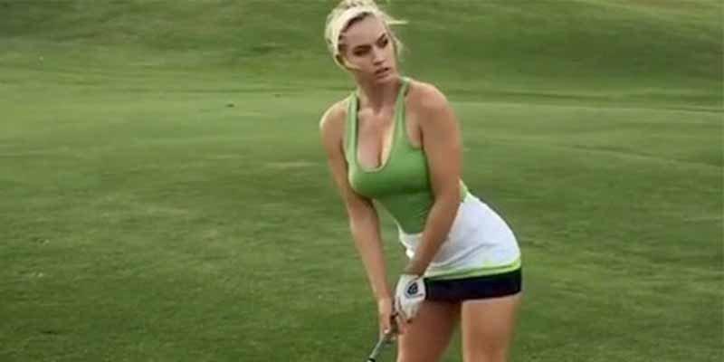 La bola entre las piernas: el video de la golfista más sexy del mundo que hace furor en las redes sociales