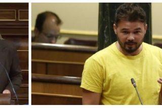 Una diputada del PP logra sacar a Rufián de sus casillas con un soberbio palo a Junqueras y recadito de propina a Pablo Iglesias