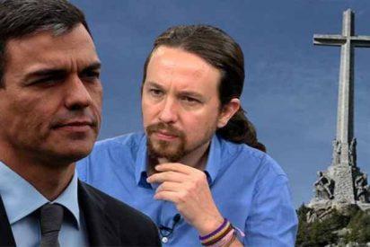 """Pablo Iglesias amenaza a Pedro Sánchez: """"Si no impides que entierren a Franco en la Almudena, no te apoyo en los Presupuestos"""""""