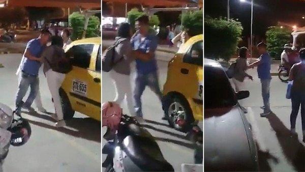 El marido es descubierto por su esposa siendo infiel y decide huir con su amante (Vídeo)